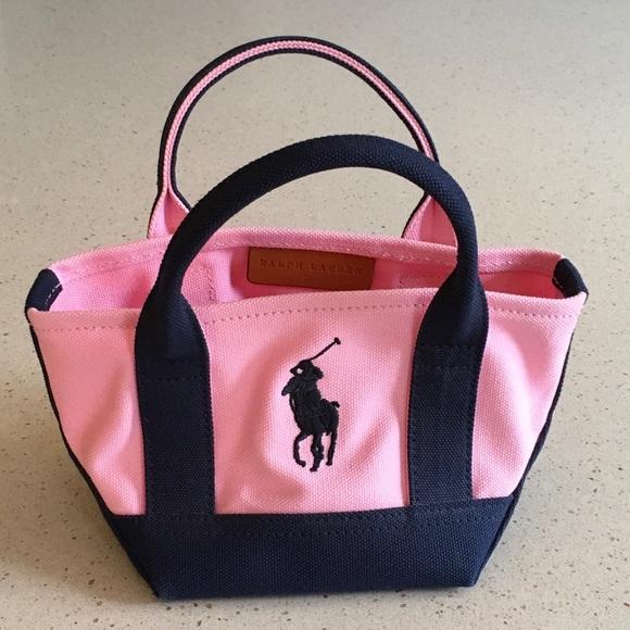 Girls Ralph Lauren Mini Canvas Tote - Pink Navy. M 5abba1701dffdaf5ec91d342 9bc0c3a274ed4